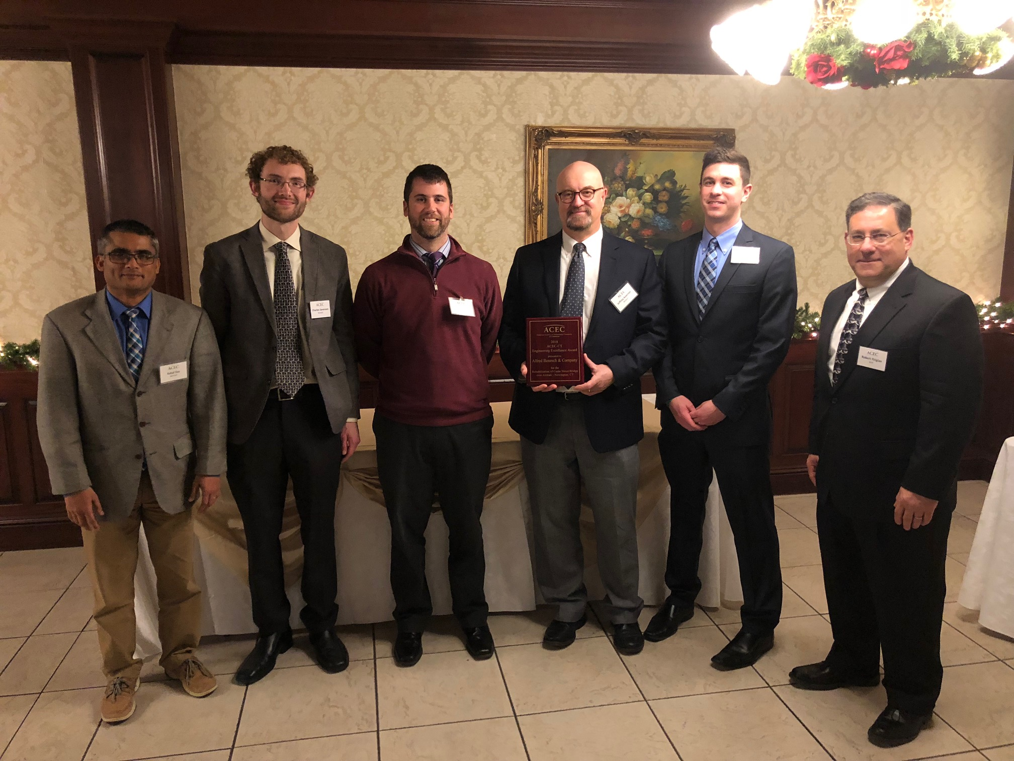 Alfred Benesch & Company 2018 ACEC/CT Engineering Excellence Award Winning Team